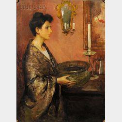 Charles Webster Hawthorne (American, 1872-1930)      Venetian Lady