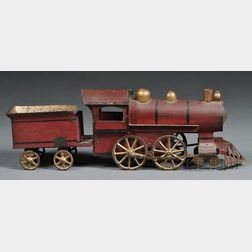 "Pressed Steel ""Hill Climber"" Locomotive and Tender Toy"