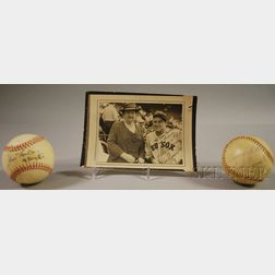 Boston Red Sox Jim Lonborg, Sammy White, and Jimmy Piersall Autographed Baseballs