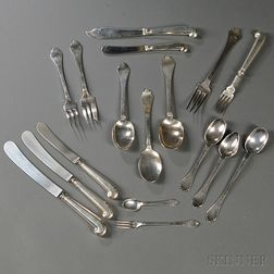 Assembled Elizabeth II Sterling Silver Flatware Service