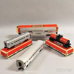 Four Lionel Trains