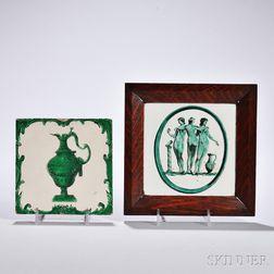 Two Tin-glazed Earthenware Tiles