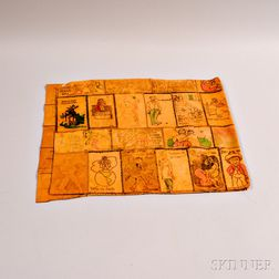 Hand-colored Leather Postcard Mat