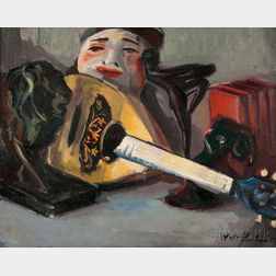 Walt Kuhn (American, 1877-1949)      Tabletop Still Life with Mandolin