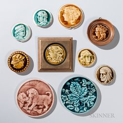 Ten Round Providential Tile Works Art Pottery Tiles