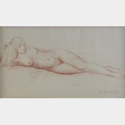 Leon Kroll (American, 1884-1975)    Reclining Nude
