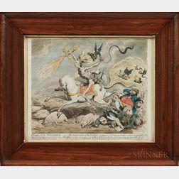 James Gillray (British, 1757-1815)      Presages of the Millenium...