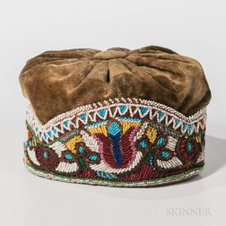 Iroquois Beaded Cloth Hat