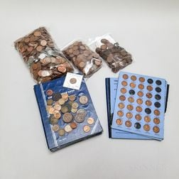 Large Group of Cents and Nickels