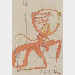 Salvador Dali (Spanish, 1904-1989)  QUEVEDOS VISIONER/