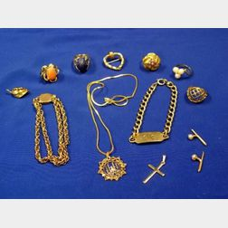 Group of Miscellaneous Gold Jewelry