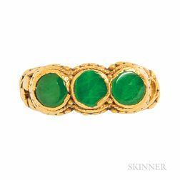 High-karat Gold and Jade Ring