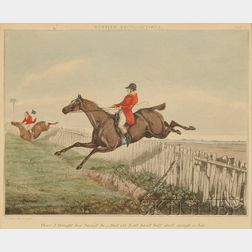 Lot of Three Framed English Hunting Prints      Henry Alken (British, 1785-1851)