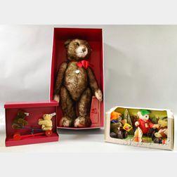 Three Modern Boxed Steiff Mohair Animals