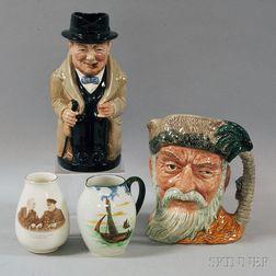 Four English Pottery Jugs