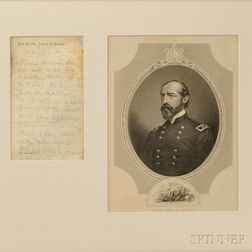 Framed, Signed Letter from General George Gordon Meade