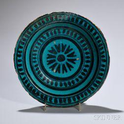 Turquoise-glazed Damascus Dish