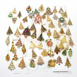 Group of Christmas Brooches