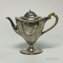 English Neoclassical Sterling Silver Teapot