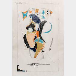 Richard Lindner (German/American, 1901-1978)      Nude Art The Vancouver Art Gallery, November 3-29, 1964