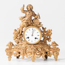 Marti Gilt-bronze Mantel Clock