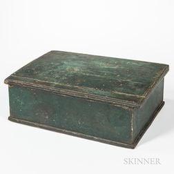 Green-painted Pine Bible Box