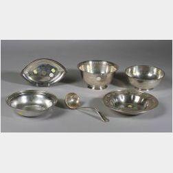 Group of Six Sterling Tablewares
