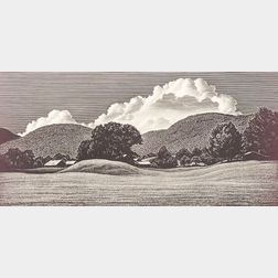 Lot of Four Prints:    Asa Cheffetz (American, 1896-1965), Rolling Hills of the Valley