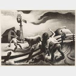 Thomas Hart Benton (American, 1889-1975)      Photographing the Bull