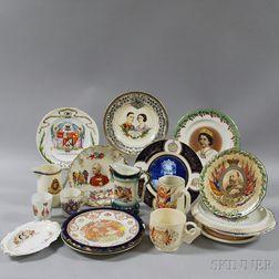 Twenty-one Royal Commemorative Items