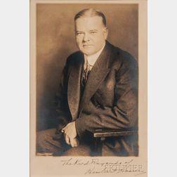 Hoover, Herbert (1874-1964) Signed Photo.