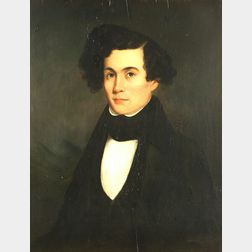 Anglo/American School, 19th Century  Portrait of a Young Gentleman.