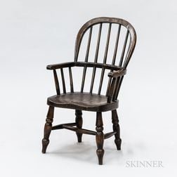 English Oak Child's Windsor Armchair