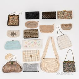 Seventeen Beaded and Embroidered Purses