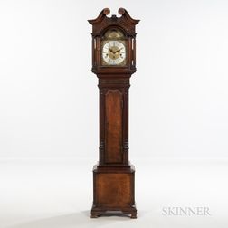 """Carved Mahogany """"Dwarf"""" or """"Grandmother's"""" Clock"""