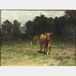 Charles Franklin Pierce (American, 1844-1920)    Cattle at Pasture