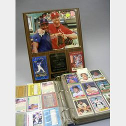 Collection of Boston Red Sox, Assorted 1980s/1990s Baseball Cards, and a 1998 Mark   McGwire/Sammy Sosa Commemorative Plaque