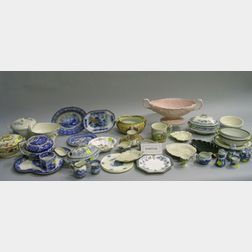 Fifty Assorted Pottery and Porcelain Table Items