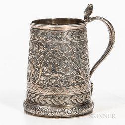 Chased Silver Mug