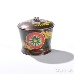 Painted Tinware Lidded Sugar Bowl
