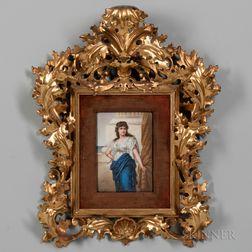 Continental Porcelain Plaque of Medea