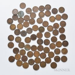 Approximately Seventy-five Indian Head Cents
