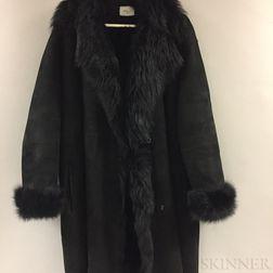 Akris Black Lambskin Coat