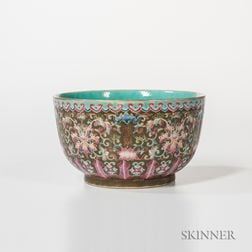 Famille Rose Enameled Deep Bowl