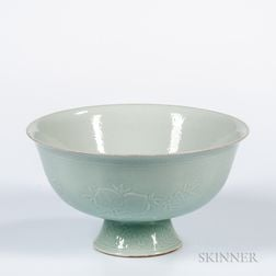 Large Clair-de-Lune Footed Bowl