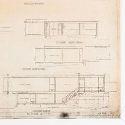 Paul Rudolph (American, 1918-1997) Six Diazo Print Plans for the Yanofsky House