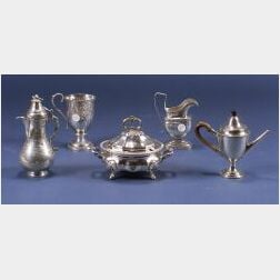 Silver Plated Argyle and Four Other Items