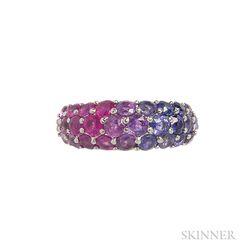 Platinum and Sapphire Ring