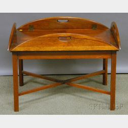 Chippendale-style Mahogany and Maple Butlers Tray Table.