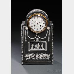 Wedgwood Black Jasper Dip Mantel Clock